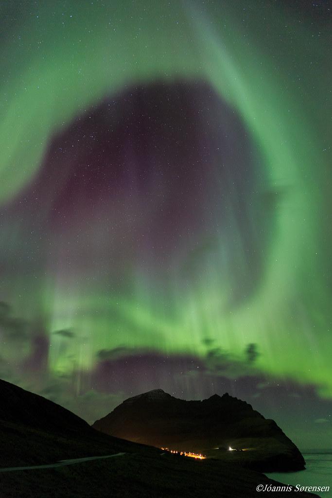 Cahaya Utara di Faroe Denmark