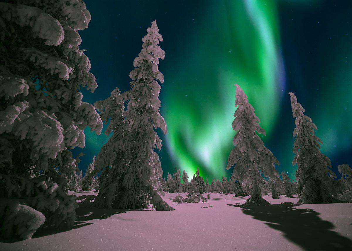 Melihat Aurora di Seberia, Rusia