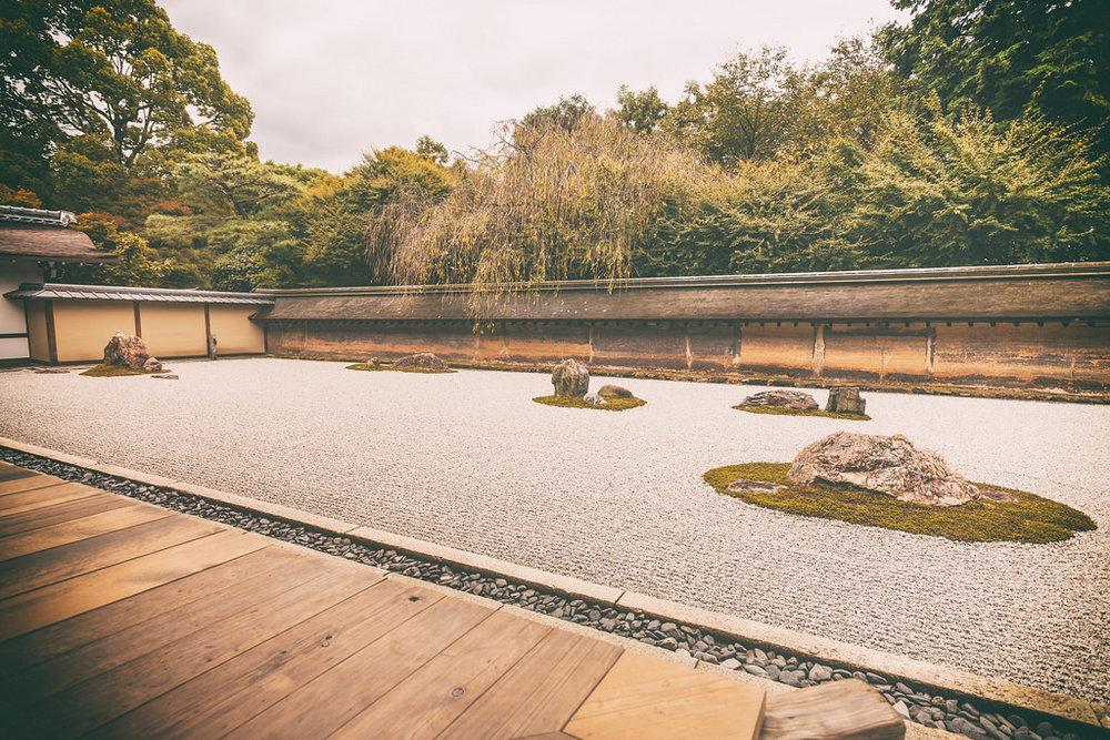 Taman Batu Ryoanji Kyoto