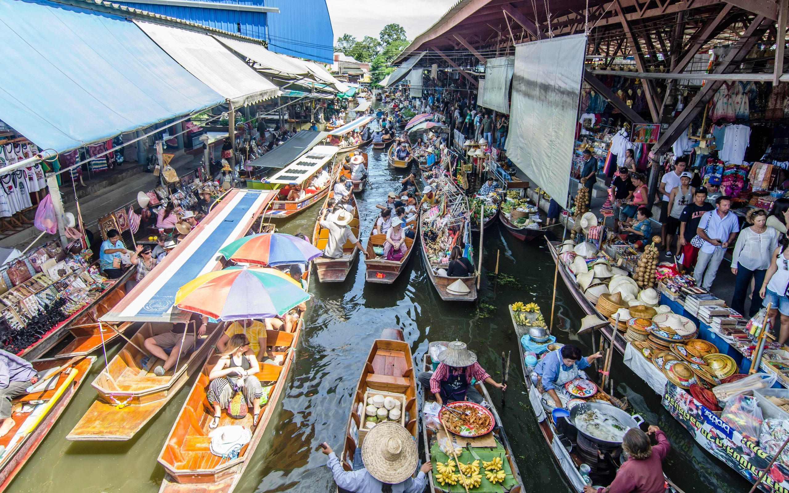 Thaiand Floating Market
