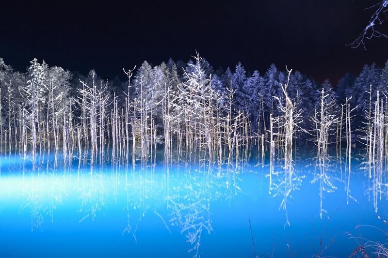 Danau Biru Shirogane Jepang