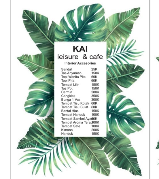 Harga Souvenir di Kai Leisure and Cafe